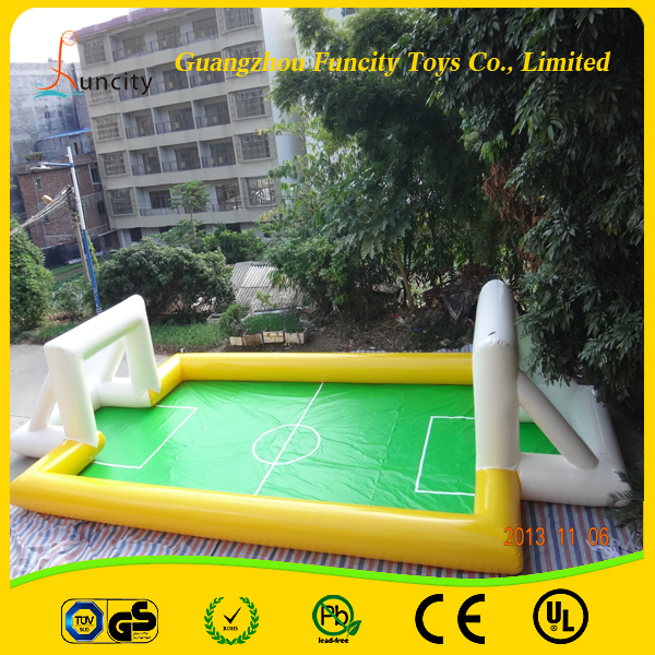 Durable inflatable soccer football field /inflatable soap football /soccer picth