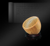 Hairong patent bamboo high end mini usb music car speaker manual portable wireless car subwoofer