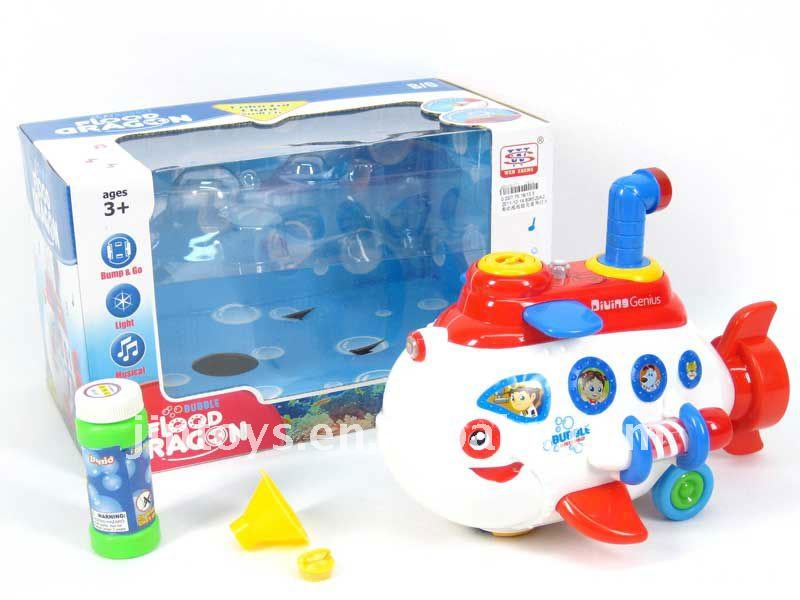 Battery Operated Hubble-bubble Pigboat with Light&Music