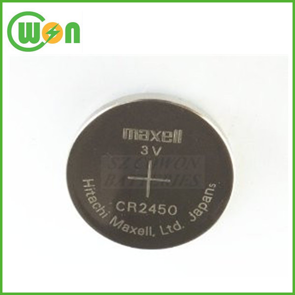 New and original Battery CR2450 for Maxell battery CR2450 3 volts for Maxell coin
