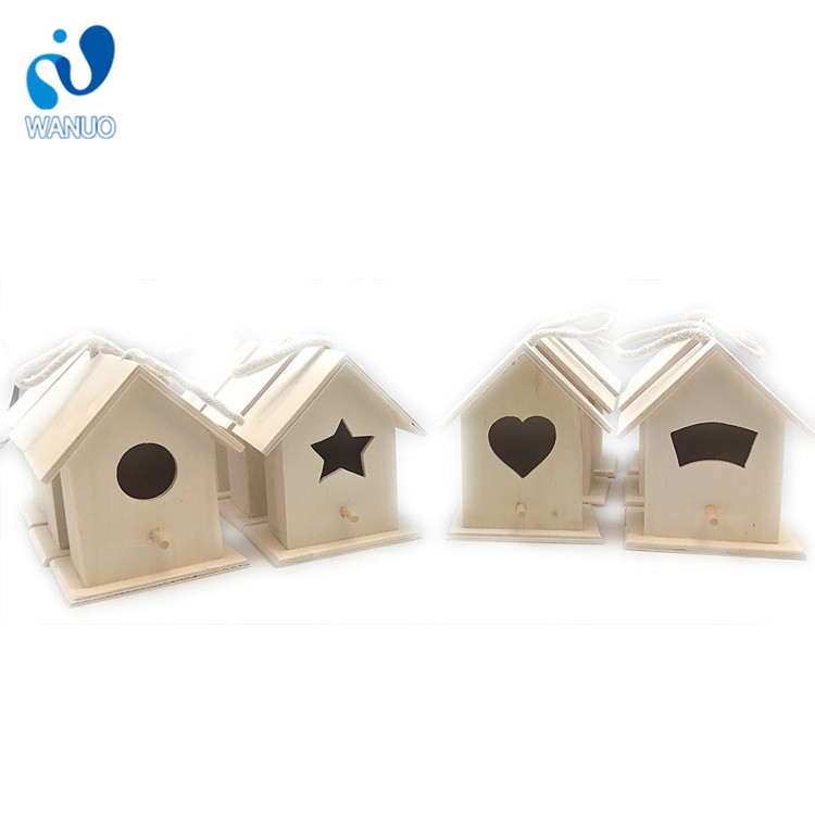 WanuoCraft Cage And Aviary Cheap Pet Decor Wooden Bird House