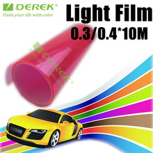 Headlight Protection Car Headlight Tint Film Pink Color Car Headlight Vinyl Film /size:0.3*10m