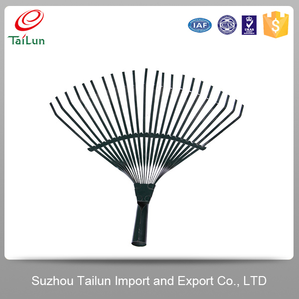 High Quality 22 Tines Plastic Coated A3 Steel Garden Handle Rake