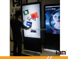 factory price LED floor standing WIFI Android Windows OS Network advertising screen