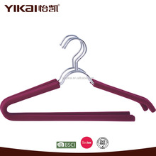 YIKAI foam coated metal shirt hangers with open ended trousers bar without sharp edges
