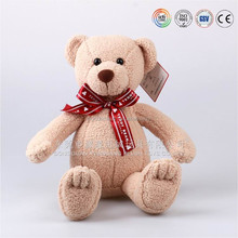 100% pure cotton light brown mini singing knitted plush teddy bear baby toy