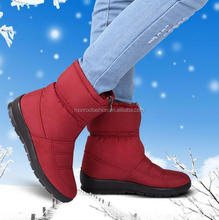 Monroo 2016 Snow boots female autumn and winter new waterproof skidproof old cotton boots plus velvet warm mother shoes