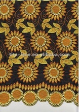 best sell 2012 new design cotton swiss lace fabric with beads