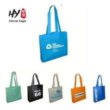 Bulk cheap promotion nonwoven shopping tote bag blank non woven bag