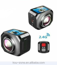 4k Ultra Hd Action Camera 360 Degree View Angle Waterproof Wifi Action Camera Cube 360 Sport Camera
