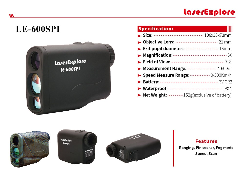600M Strandard version 21mm hunting laser rangefinders golf rangefinder