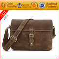 2017 vintage european style leather shoulder messenger bag for men