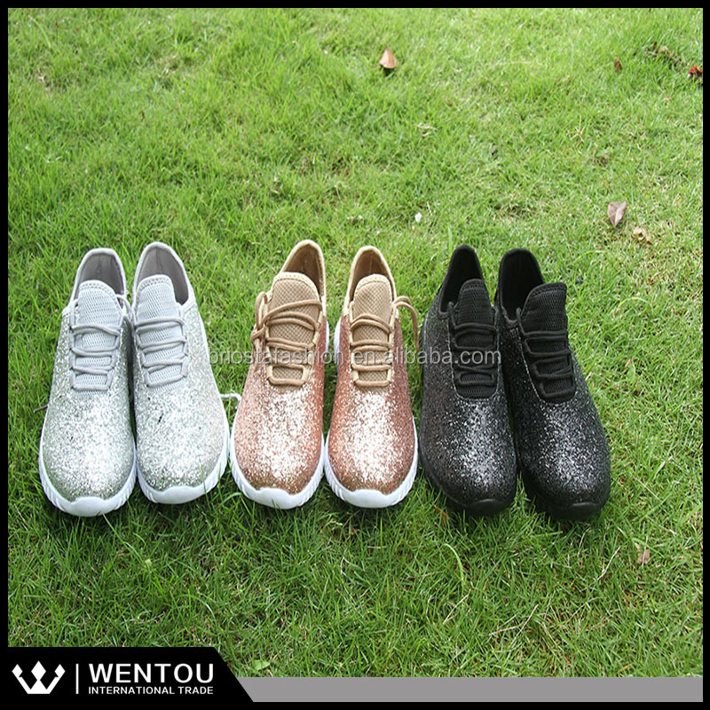 Wholesale Fashionable Women Sequin Shoes