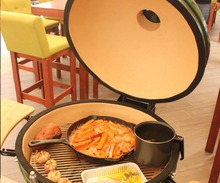 Outdoor Ceramic Barbecue Kamado Grill Smoker