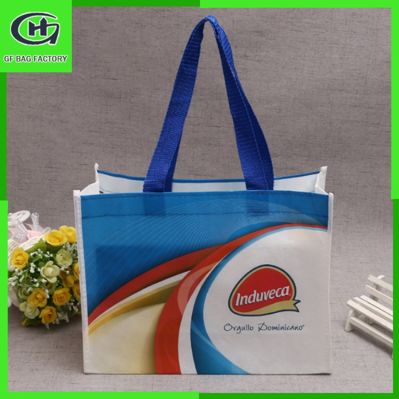 shanghai supply non woven fold shopping bag 2014 hand shopping bags
