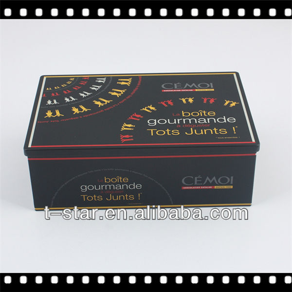 Right Angle Rectangular Tin Box