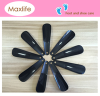16 cm plastic shoe horn, custom shoe helpers, 16cm black shoe horn