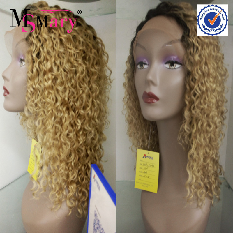 100% virgin Peruvian human hair swiss lace afro kinky curly european hair full lace wig