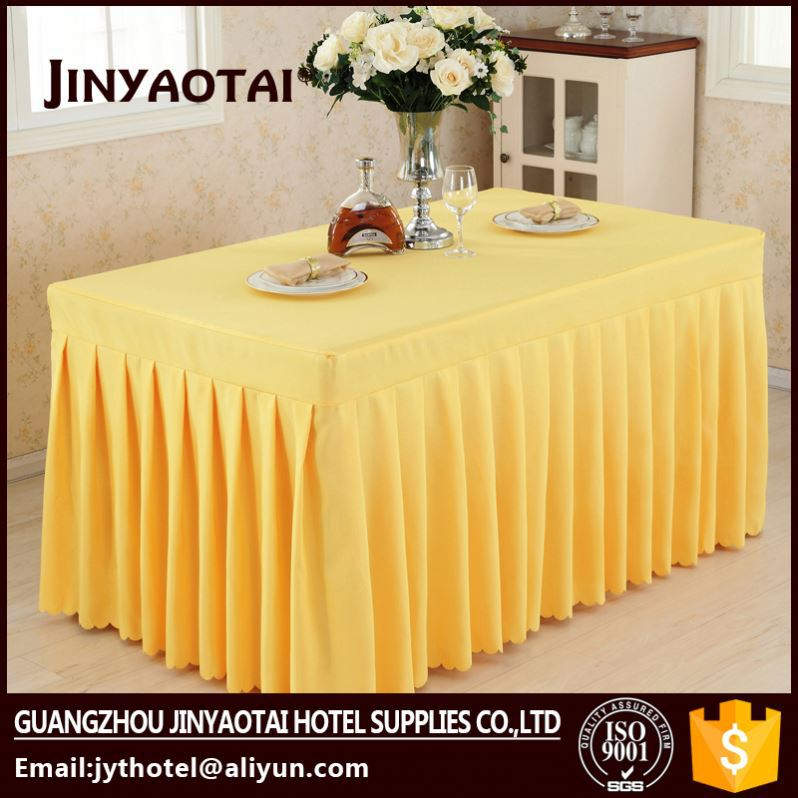 Organza Fabric Guangzhou Dobby table skirtings white with swag