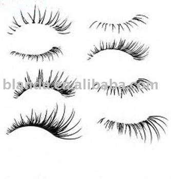 Various styles strip lashes with bottom lashes