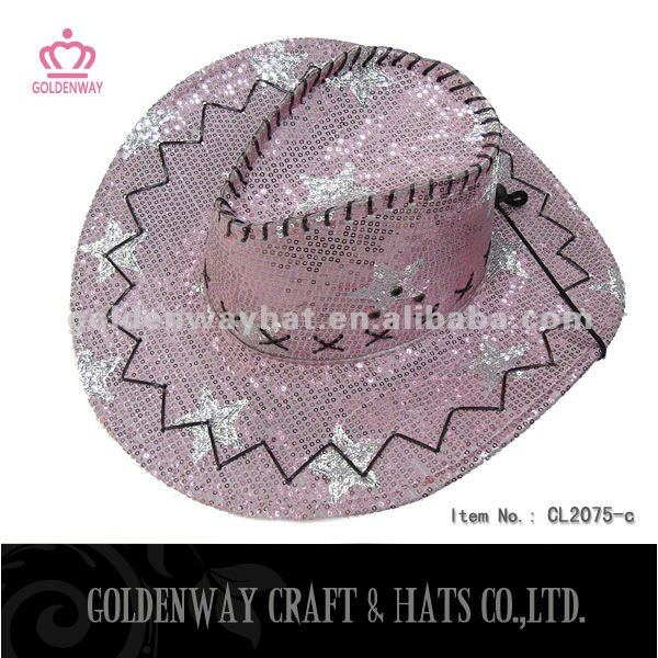 2013 Adult Sequin purple cowboy hat