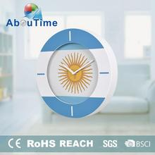 Handmade oriental peacock plastic wall clock for romm decoration