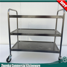 4 wheels stainless steel hotel trolley cart
