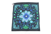 Mexican Flower Embroidered Fair Trade New Textile - Blue