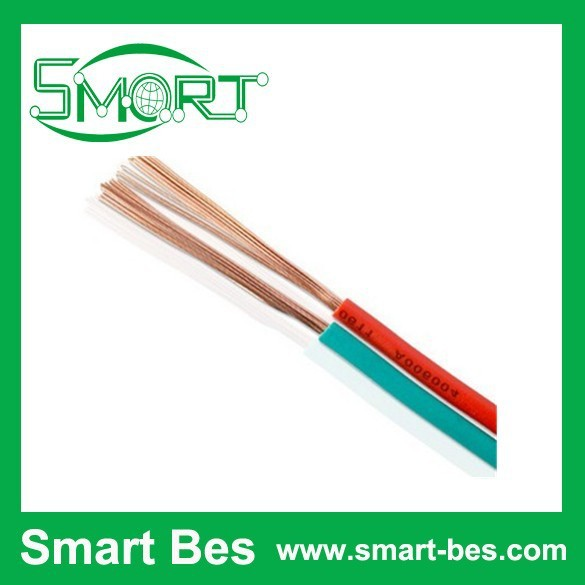 Smart Bes~Red And Black Flat PVC Audio Speaker Cable wire,electrical cables and wires,waterproof wire and cable