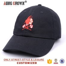 promotion logo 100% cotton golf caps