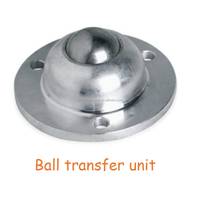 With fix mounted hole ball transfer unit / steel made flange shape heavy load ball caster SD-12 SD-15 SD-30 SI-12 SI-15 SI-30