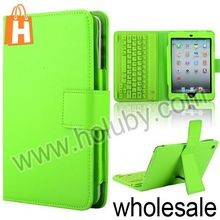 Wireless Bluetooth Keyboard+Lichee Texture PU Leather Case for iPad Mini with Stand