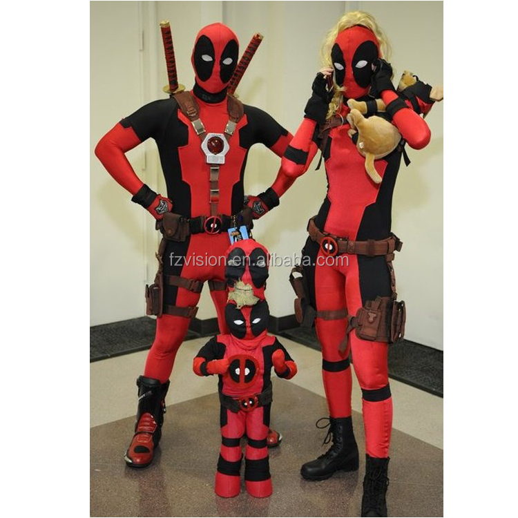 Spandex Lycra Lady Deadpool Costume adult X--Men Halloween Costume