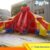 Cheap Inflatable Water Slide with 3 Lanes Used Water Park Slides for Sale