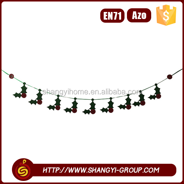 Customized lovely hanging garland outdoor christmas train decoration