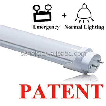 LED emergency tube internall battery T8 direct replacement for emergency fittings, tube light up automatically
