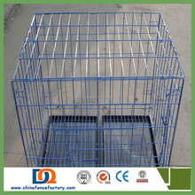 Low price and high quality about the welded wire mesh dog cage with wheels/ stainless steel dog cage4-0