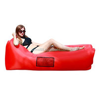 Inflatable Lounger Air Sofa, Portable Sleeping Beds for Camping & Hiking, Swimming Balloon or Bag (red)