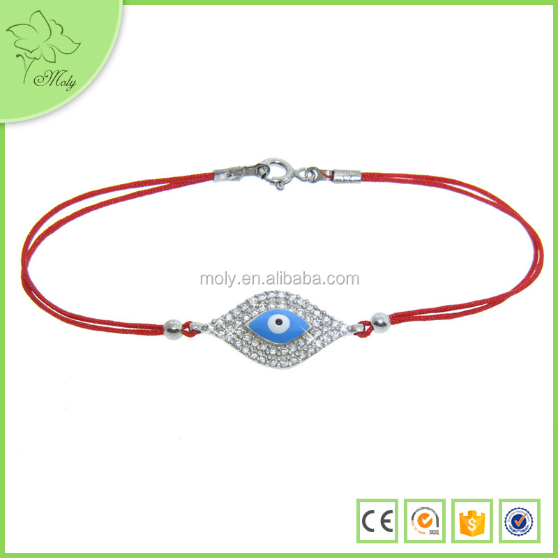 Wholesale Charm Gold Rhinestone Fashion Blue Evil Eye Tennis Bracelets