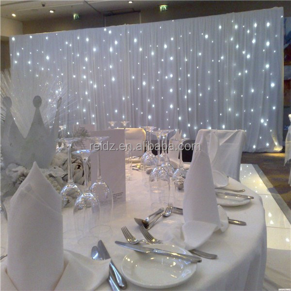 Indoor wedding decor muslim wedding decoration white for Hall decoration images