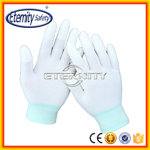 White pu coated nylon working gloves