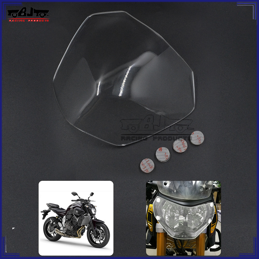 BJ-HGC-YA001 ABS Motorcycle FZ-07 headlight screen protective cover for Yamaha MT-07 2013-2016