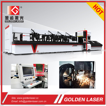 Steel Tube Pipe Cutting by Fiber Laser Cutting Machine 1000W