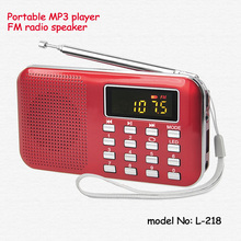 portable recharge usb music player fm radio mp3 player with speaker