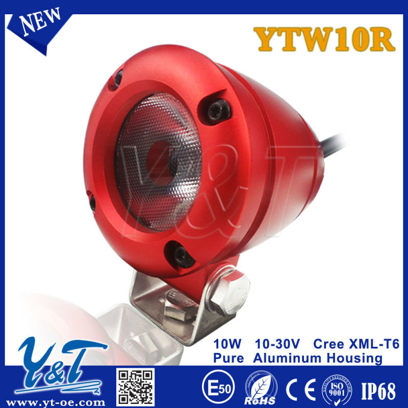 Y&T 10w YTW10R E-mark/ECE approval motorcycle front light led headlight led spolights driving motorcycle headlight fairing