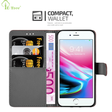 Etree Brand Custom Flip Cover Wallet Function Pu Leather Phone Case For Apple iPhone 8 Plus