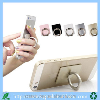 Flexible 360 degree rotating phone stand finger ring holder