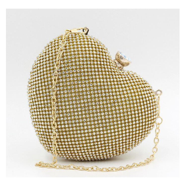 Fashion Women's Heart Shaped Hard Evening Cluth Bags