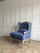 antique french blue living room furniture wooden sofa chair