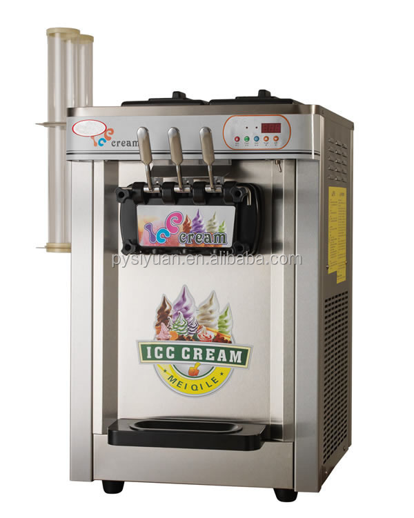 taylor soft serve ice cream machine with 3 flavors and imported compressor